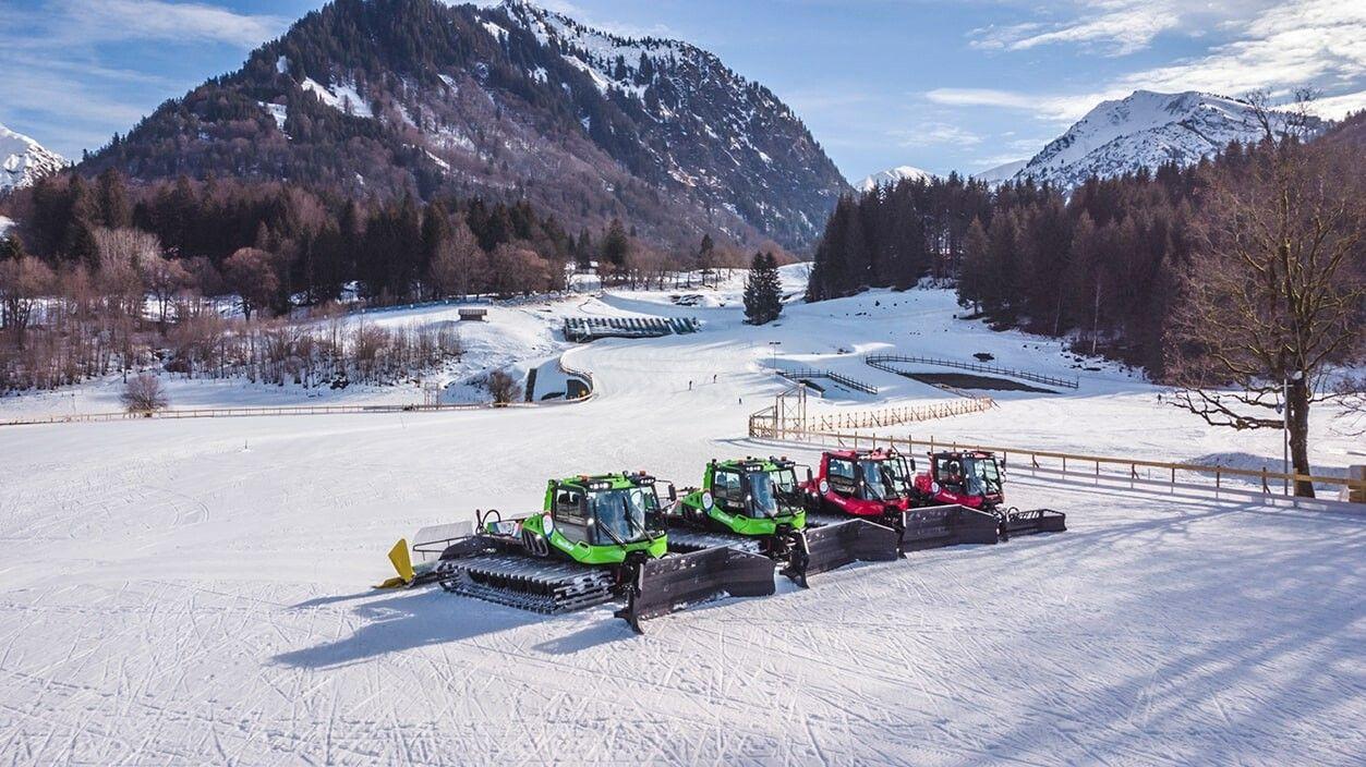 Die PistenBully Flotte bei der Nordischen WM 2021 in Oberstdorf