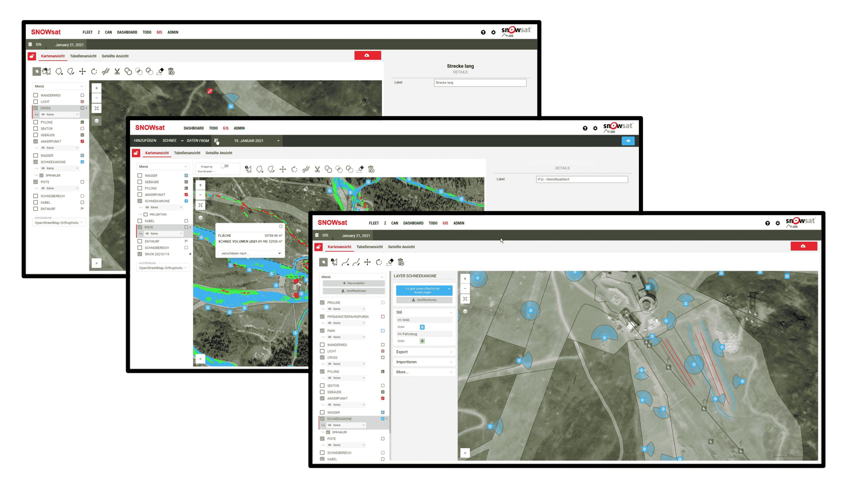 SNOWsat Area Management